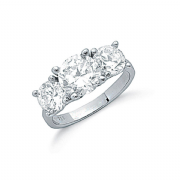Sterling silver Cubic Zirconia trilogy ring